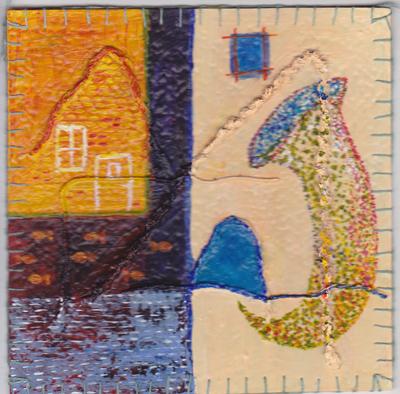 2e vinyltegel 2012 van Ann Hoogendoorn - beeldend kunstenaar