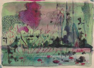 1e schetsje in de Ooij van Ann Hoogendoorn - Beeldend Kunstenaar