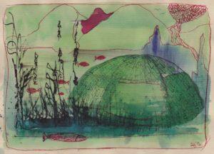 3e schetsje in de Ooij van Ann Hoogendoorn - Beeldend Kunstenaar