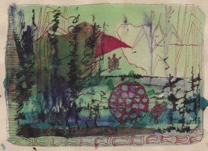 5e schetsje in de Ooij van Ann Hoogendoorn - Beeldend Kunstenaar