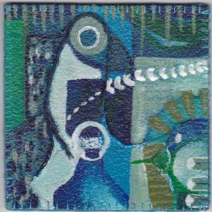 vinyltegel 2/2003 (12 x 12 cm) gemaakt door ©Ann Hoogendoorn (beeldend kunstenaar)