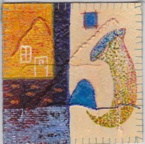 """""""Vinyltegel 2/2012""""gemaakt door Ann Hoogendoorn (beeldend kunstenaar)"""