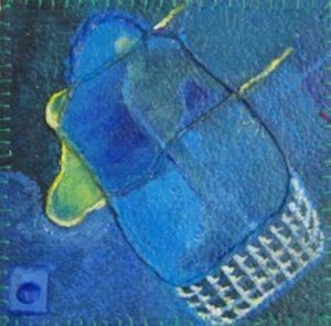 vinyltegel 3/2003 (12 x 12 cm) gemaakt door ©Ann Hoogendoorn (beeldend kunstenaar)