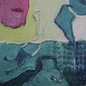 vinyltegel 3/2002 (12 x 12 cm) gemaakt door ©Ann Hoogendoorn (beeldend kunstenaar)
