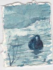 Inkt miniatuur door Ann Hoogendoorn