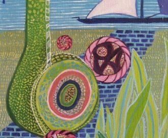 """""""Afscheid"""", 1e uit drieluik met de Drieluik """"It's a wonderful life!; door Ann Hoogendoorn - beeldend kunstenaar"""