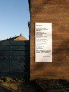 """Het gedicht """"Opgedragen"""" van Henjo Hekman"""