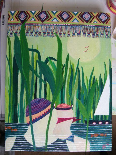 'Uit dezelfde bron' van Ann Hoogendoorn, beeldend kunstenaar in de Ooijpolder
