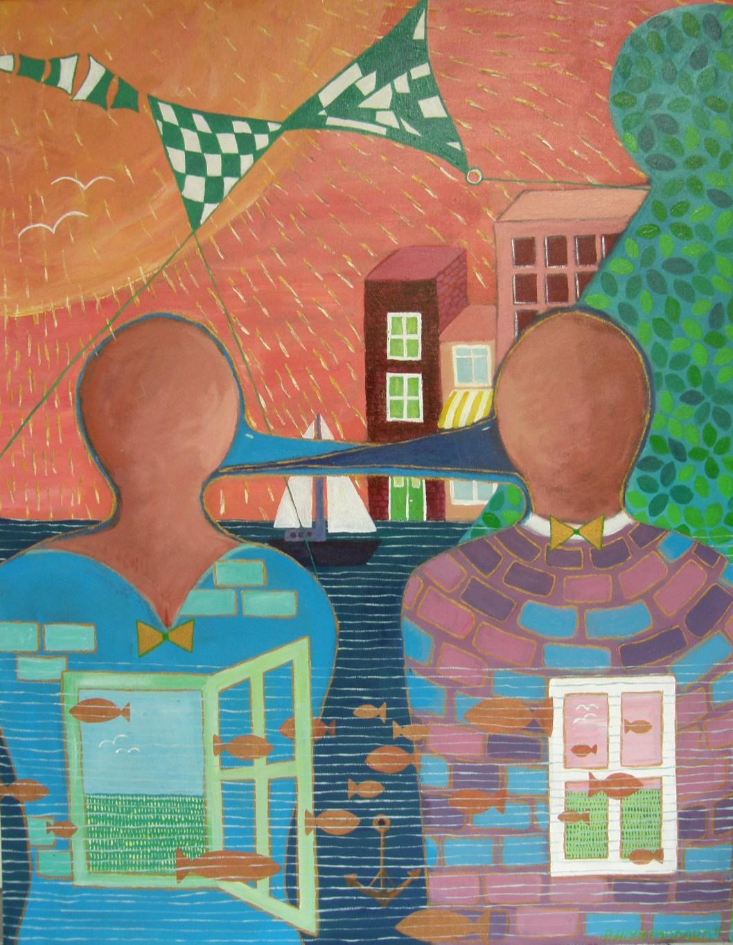 """""""Vriendschap"""" schilderij van ©Ann Hoogendoorn"""